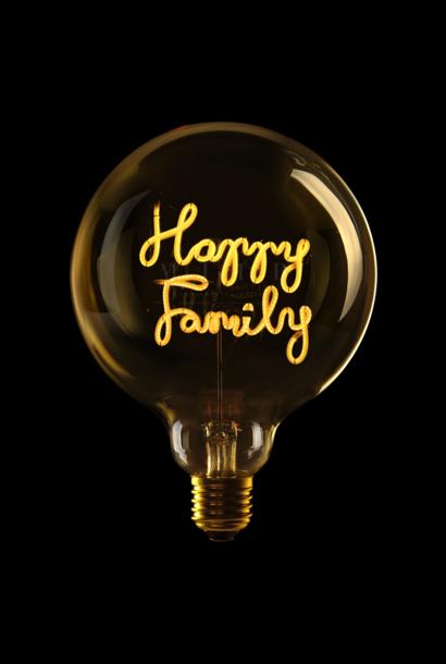 "Luminous Bulb ''Happy Family"" Amber"