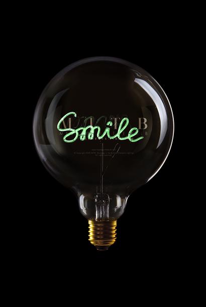 "Luminous Bulb ""Smile"" Green"