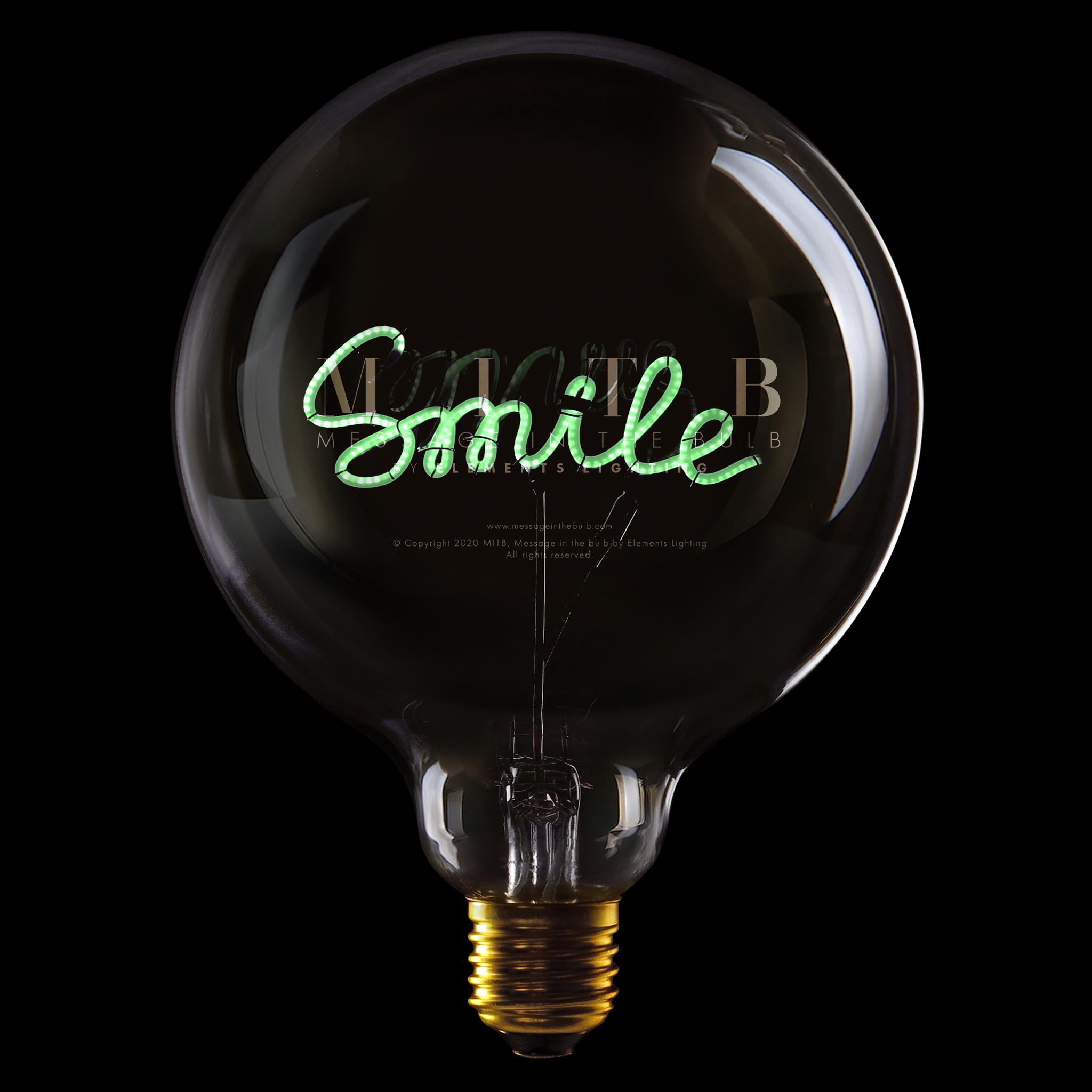 "Luminous Bulb ""Smile"" Green-1"