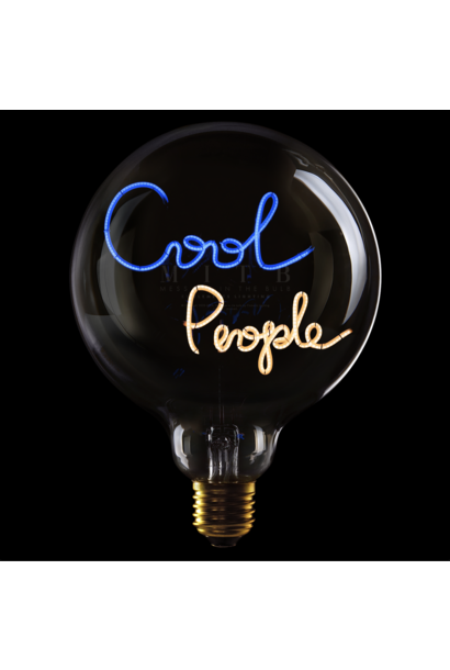 Luminous Bulb ''Cool People'' Amber & Blue