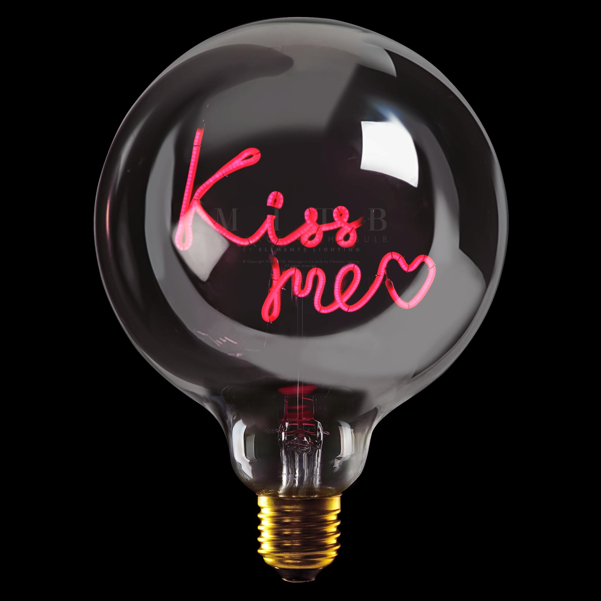 "Luminous Bulb ""Kiss Me"" Smoked Red-1"