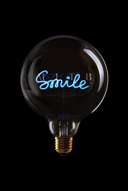 """Luminous Bulb  """"Smile"""" Blue"""