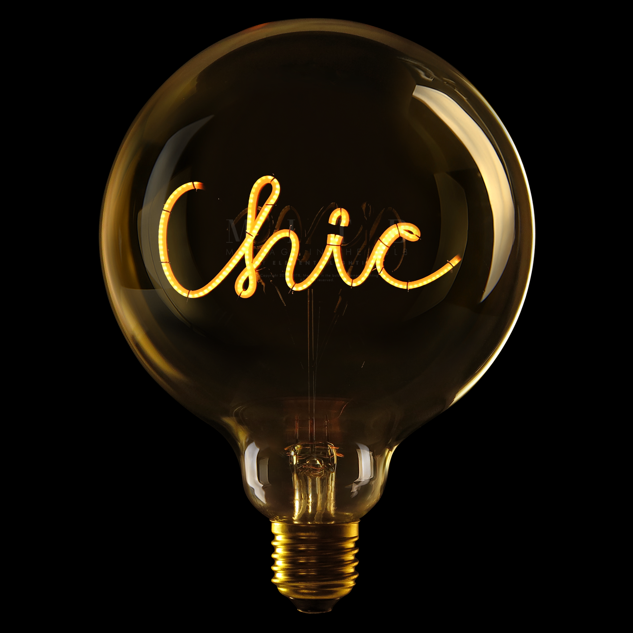 Luminous Bulb ''Chic'' Amber-1