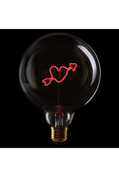 Ampoule ''Coeur fléché'' Rouge fumé