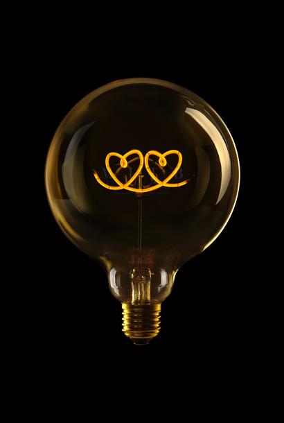 Luminous Bulb  ''Double Heart'' Amber