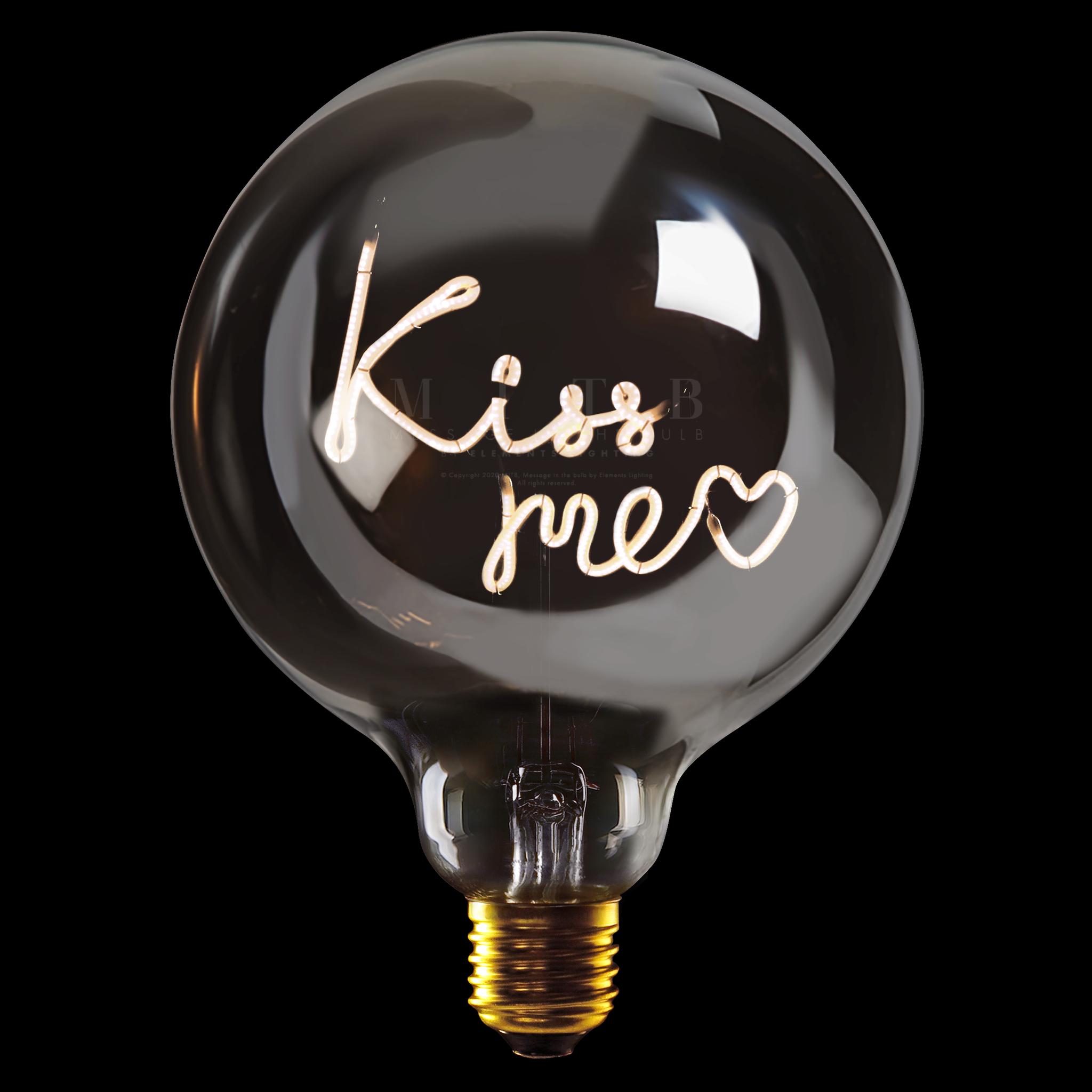 Luminous Bulb ''Kiss me'' Amber-1