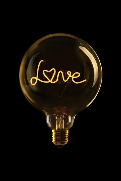 Luminous Bulb ''Love'' Amber