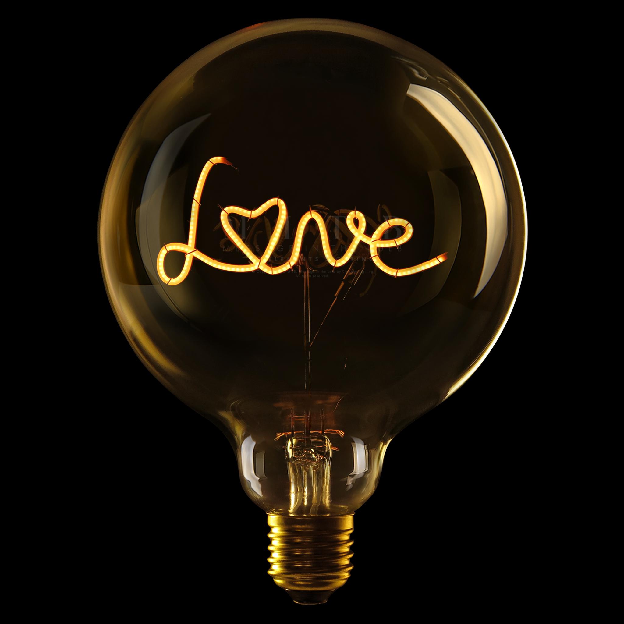 Luminous Bulb ''Love'' Amber-1