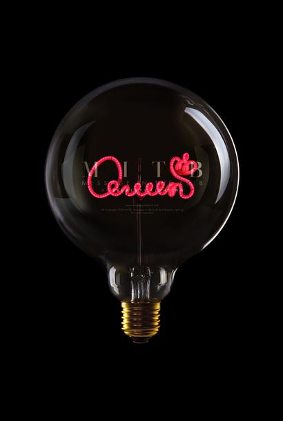 Ampoule ''Queen'' Rouge Fumé