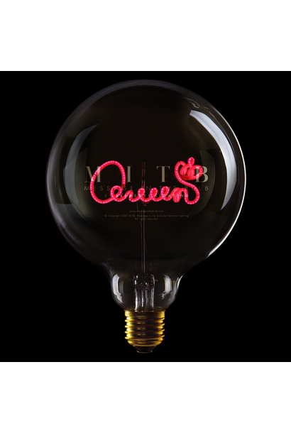 Luminous Bulb ''Queen'' Smoked Red