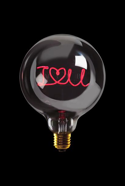 Luminous Bulb  ''I love u'' Smoked Red