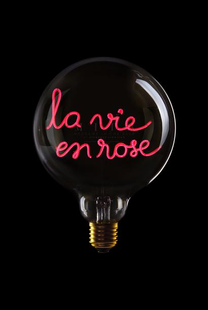 """Luminous Bulb  ''La vie en rose"""" Smoked Red"""