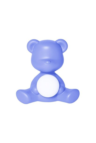 Blue Teddy Girl Lamp