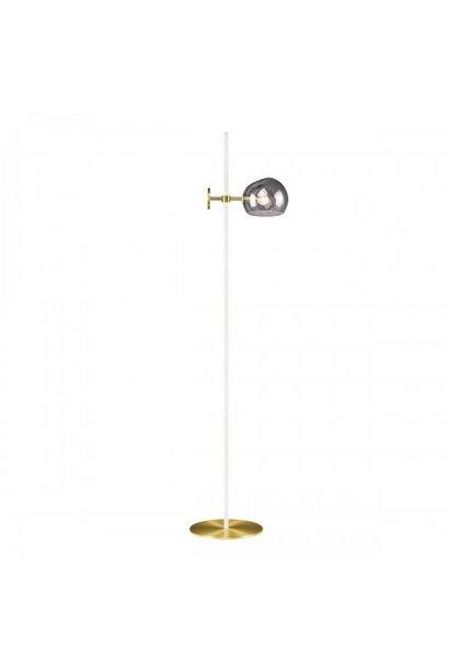Olga Floor Lamp White & Smoked Globe