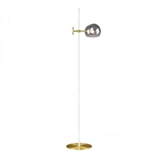 Olga Floor Lamp White & Smoked Globe-1