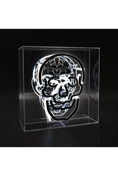 "Acrylic Box Neon Light ""Skull"""