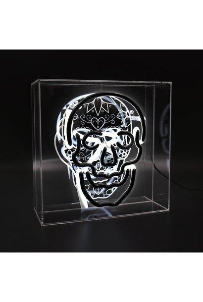 Boite Neon Large ''Skull''