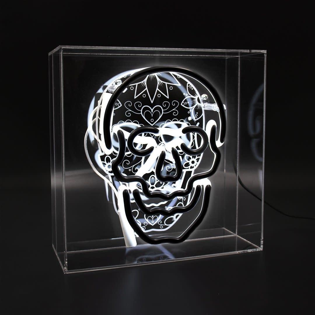 "Acrylic Box Neon Light ""Skull""-1"