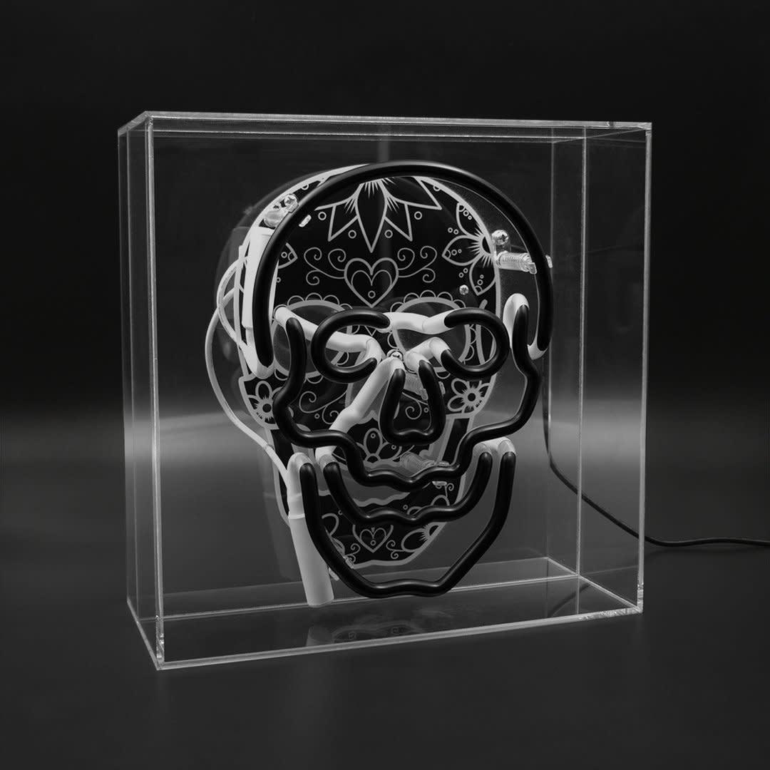 "Acrylic Box Neon Light ""Skull""-2"