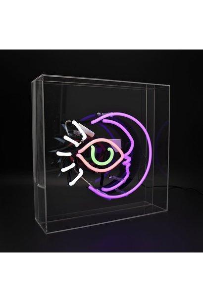 "Acrylic Box Neon Light  ""Moon"""