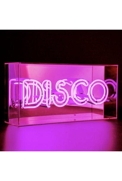 "Acrylic Box Neon Light  ""Disco"" Pink"