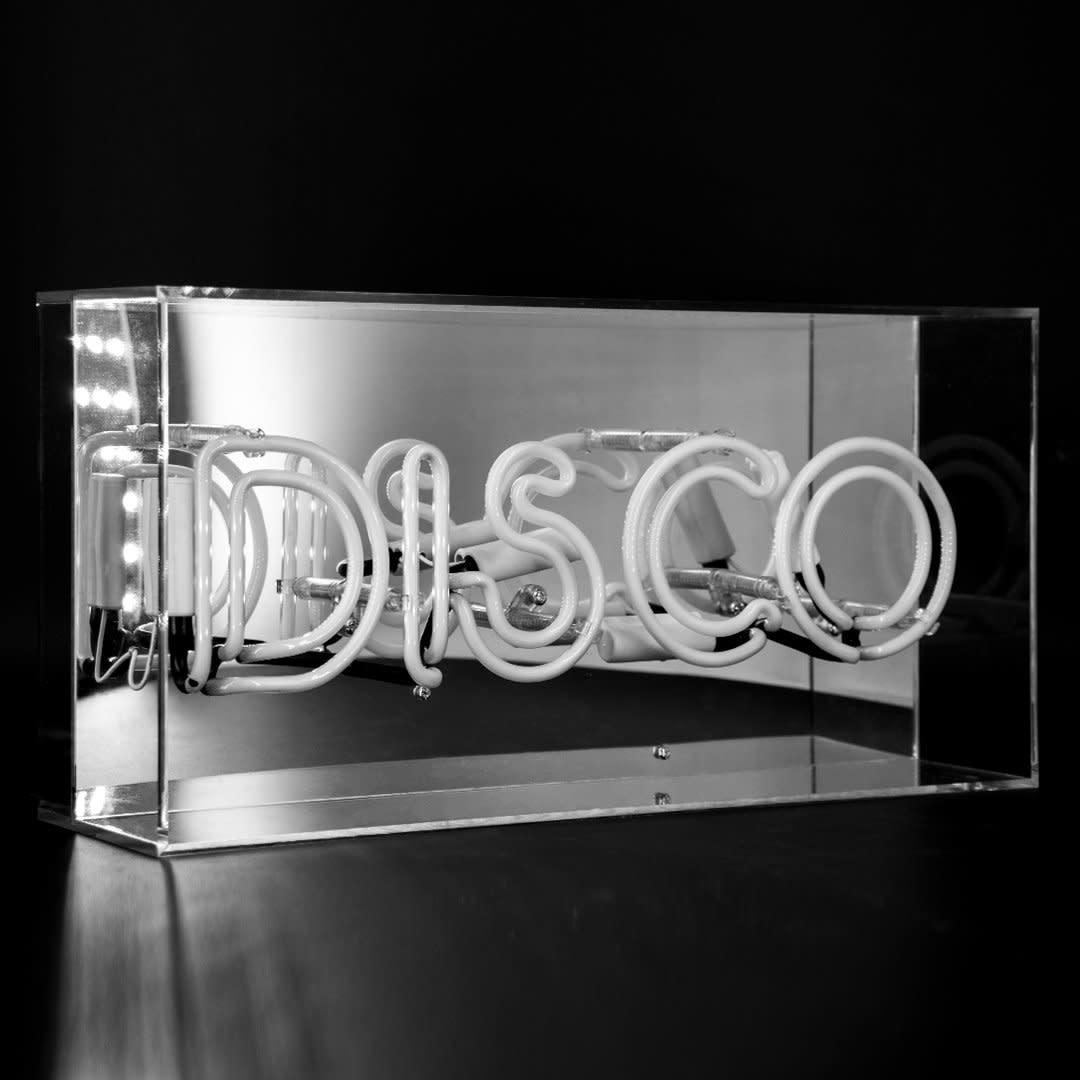 "Acrylic Box Neon Light  ""Disco"" Pink-2"