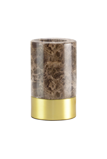 Romance Brown Marble Base With Dimmer Switch 12 cm