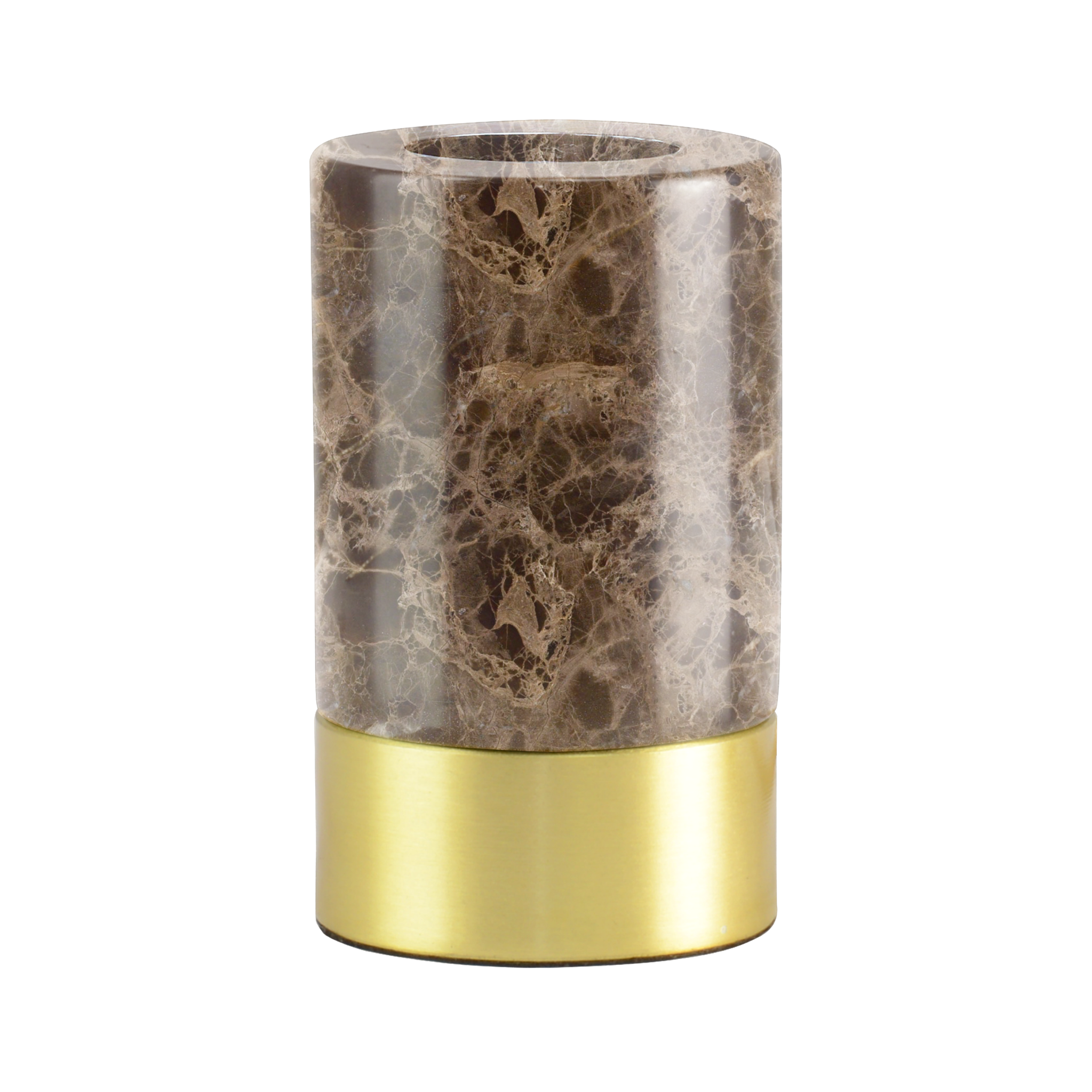 Romance Brown Marble Base With Dimmer Switch 12 cm-1