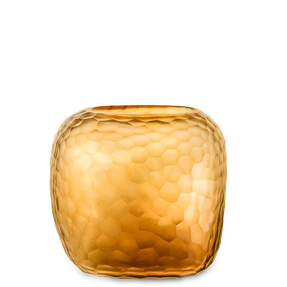 Vase Somba Clear & Gold L-1