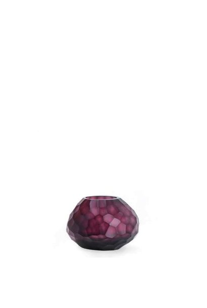 Candle Holder Otavalo Amethyst Red Bordeaux S