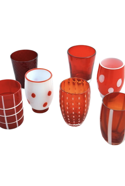 Glasses Metling Red Set 6pcs