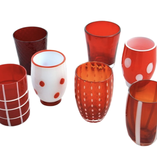 Glasses Metling Red Set 6pcs-1