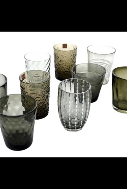 Gray Melting Glasses Set 6pcs