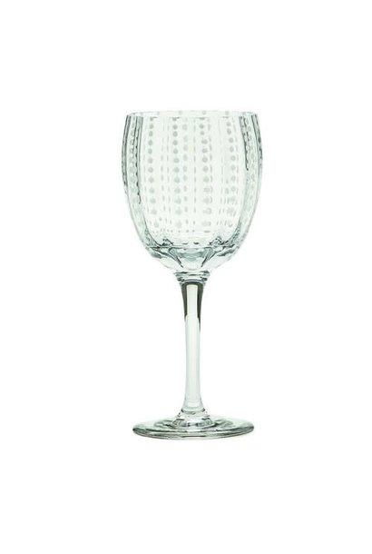 Wine Glasses Clear Pearls Set 2pcs