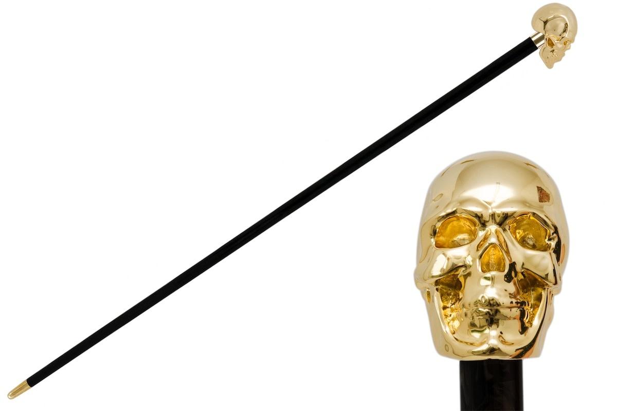 Cane Skull Handle Black / Gold-1