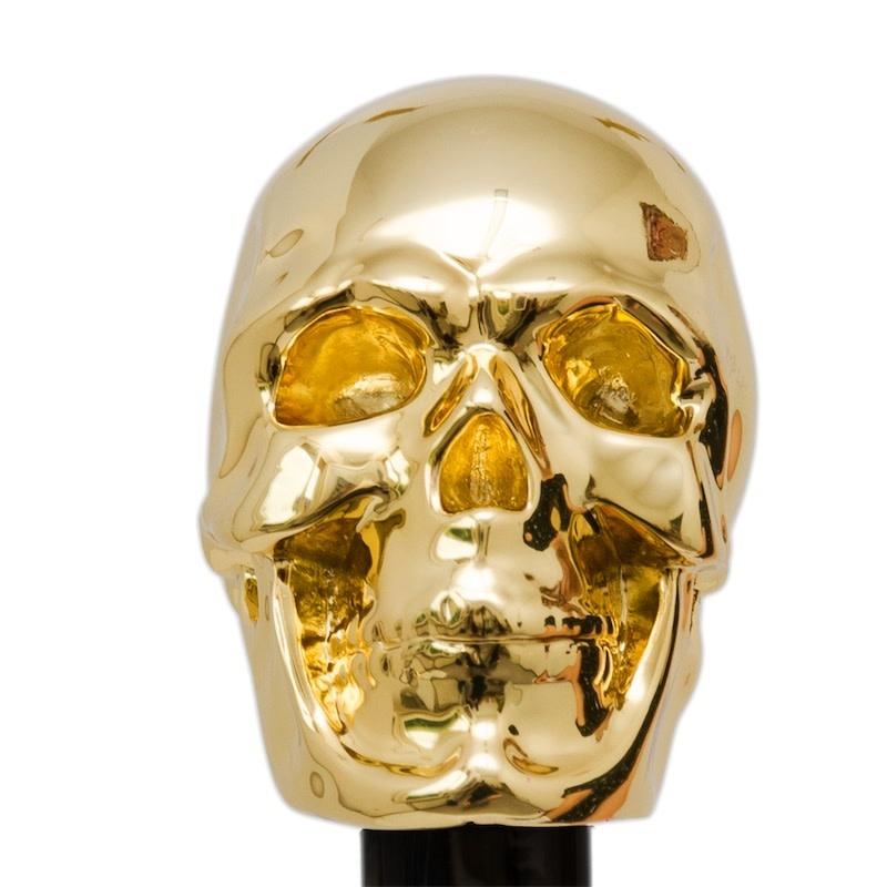 Cane Skull Handle Black / Gold-3