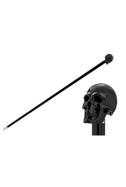 Cane Skull Handle Black