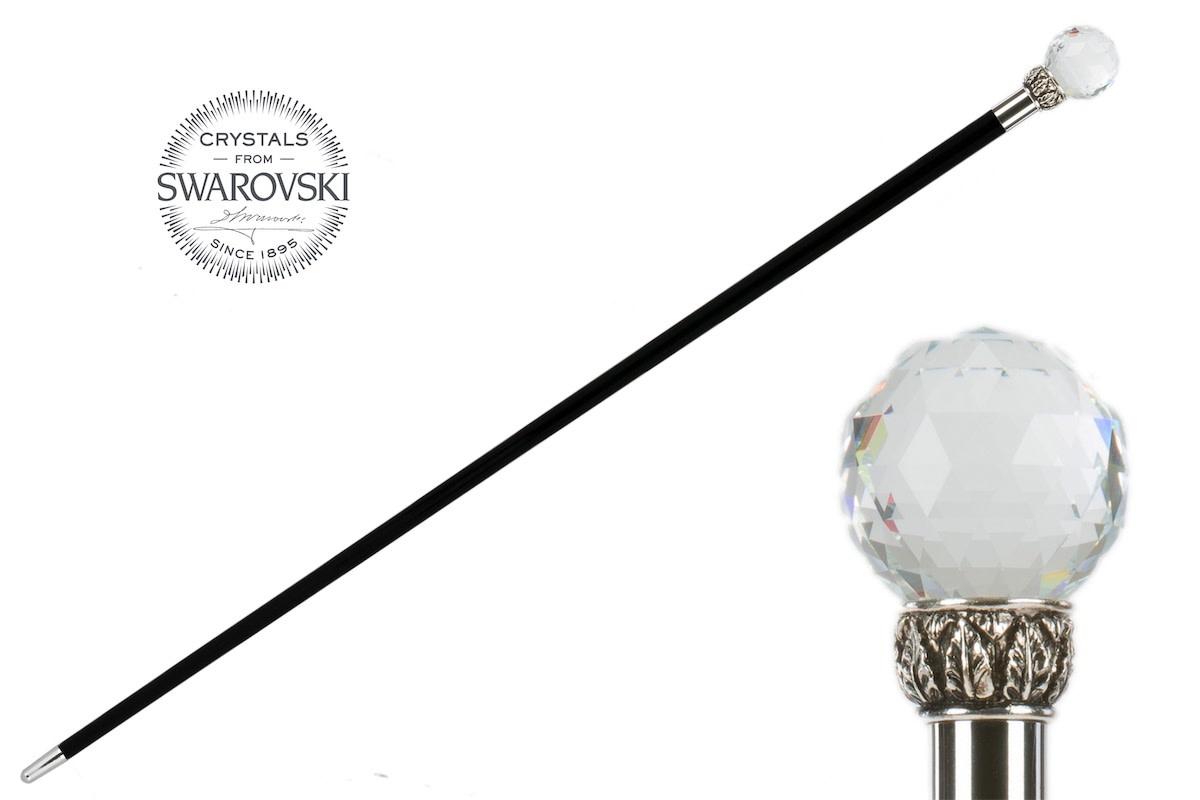Cane Crystal Ball Handle-1