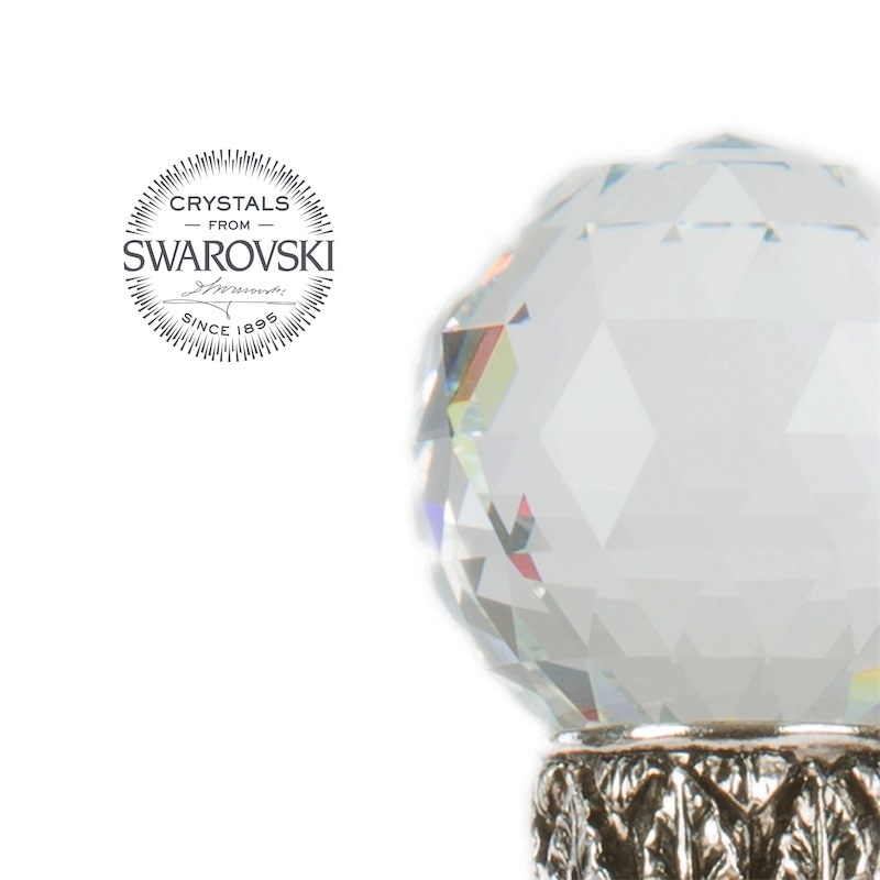 Cane Crystal Ball Handle-2