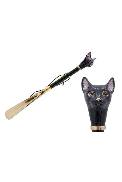 Shoehorn Cat Handle Black / Gold