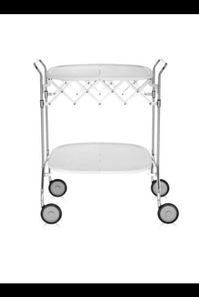 Rolling Table Gastone  White / Chrome