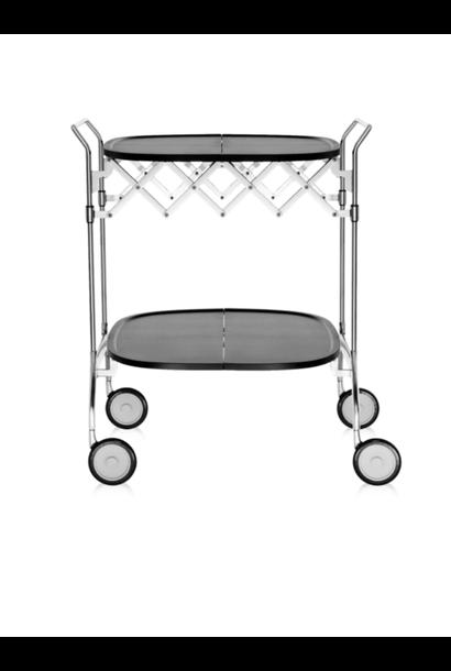 Table Roulante Gastone Noir / Chromé