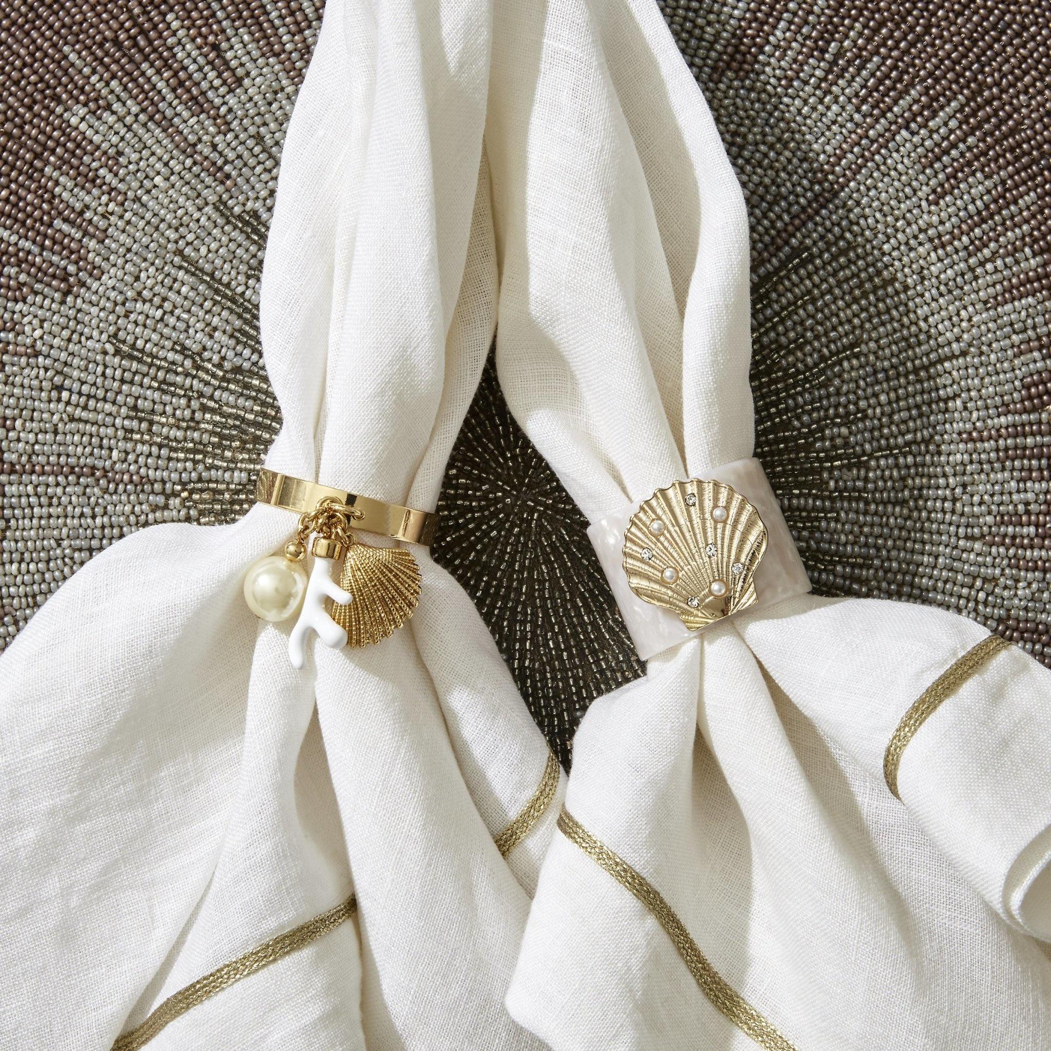 Napkin Ring Cream Coral Set 4pcs-3