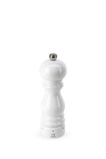 Paris Manual Pepper Mill in U'Select White Lacquered Wood 18cm