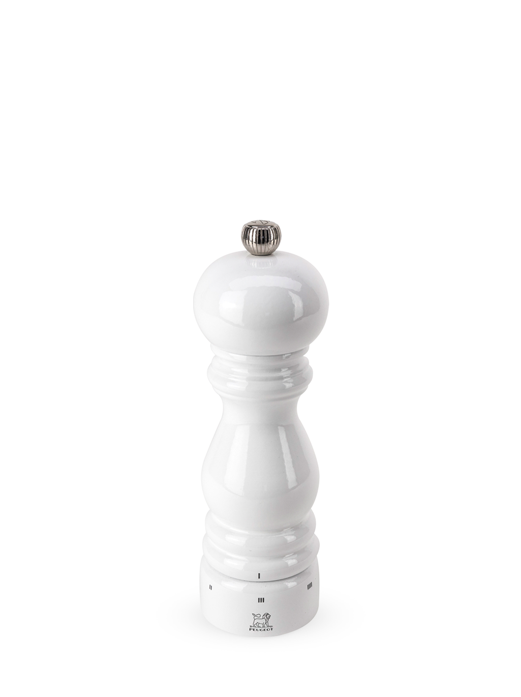 Paris Manual Pepper Mill in U'Select White Lacquered Wood 18cm-1