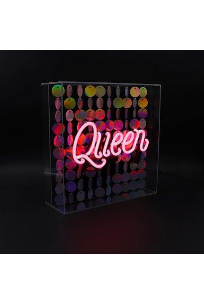"Acrylic Box Neon Light  ""Queen"" Large"