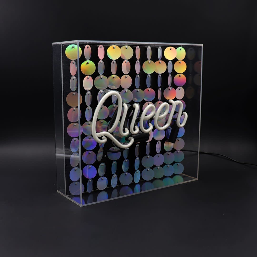 "Acrylic Box Neon Light  ""Queen"" Large-4"