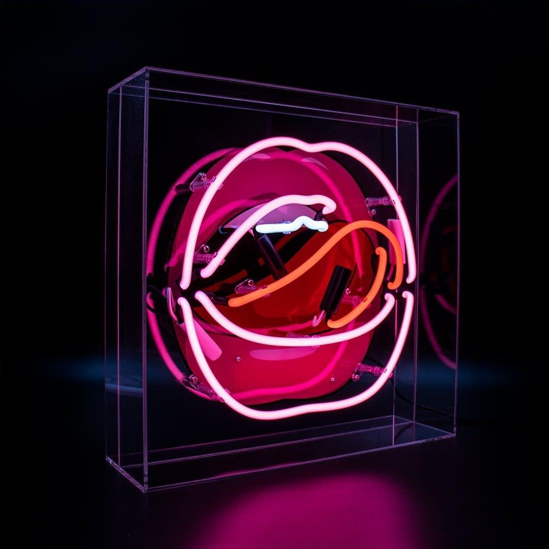 "Acrylic Box Neon Light  ""Mouth"" Large-1"