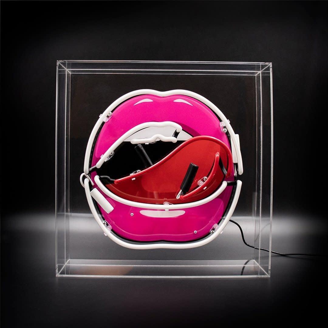 "Acrylic Box Neon Light  ""Mouth"" Large-2"