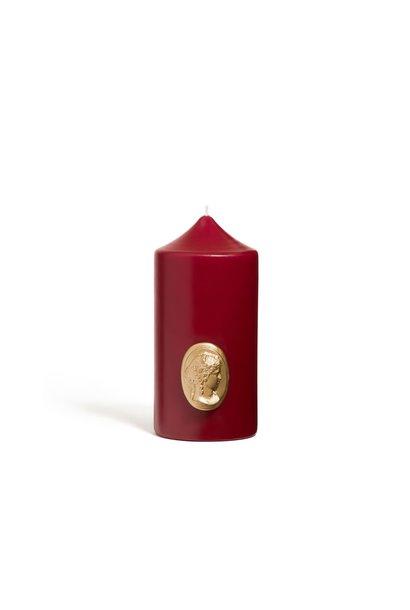 Cierge Bordeaux & Or 15cm